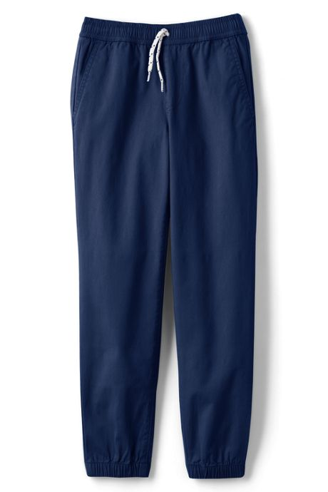 Boys Iron Knee Pull On Stretch Woven Jogger