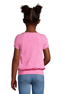 Girls Slub Tie Front Graphic Top, Back