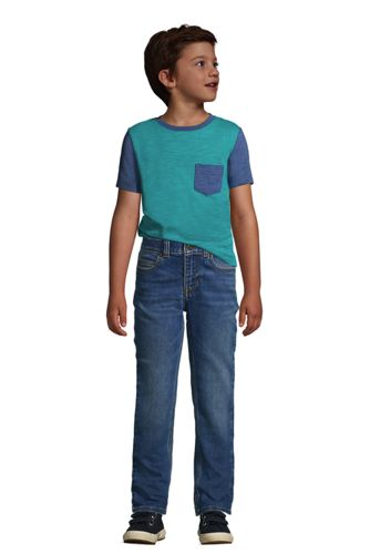 Little Boys Short Sleeve Colorblock Slub Tee
