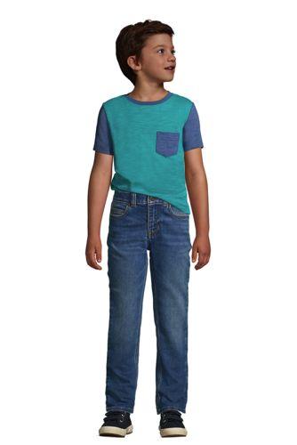 Boys Husky Short Sleeve Colorblock Slub Tee