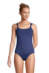 Women's Scoop Neck Adjustable Strappy Underwire Tankini Swimsuit Top