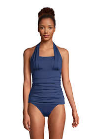 Women's Square Neck Halter Tankini Swimsuit Top