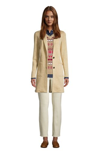 Women's Sweater Fleece Long Blazer Coat