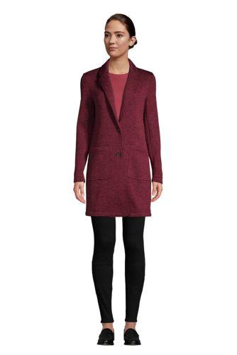 Strickfleece-Mantel für Damen