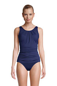 Women's High Support Scoop Neck Tankini Swimsuit Top with Padded Comfort Adjustable Straps