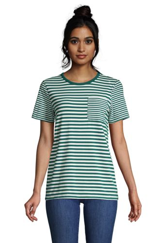 Women's Plus Cotton Modal Short Sleeve Pocket T-shirt