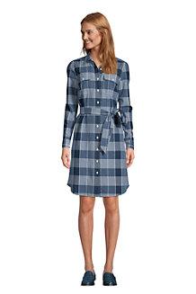 Women's Long Sleeve Button Front Dress