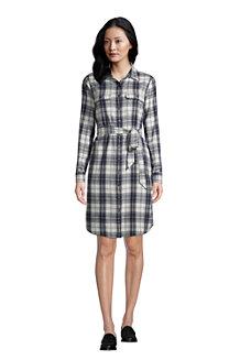 Blusenkleid aus Baumwoll-Flanell für Damen