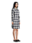 Women's Petite Cotton Flannel Shirt Dress