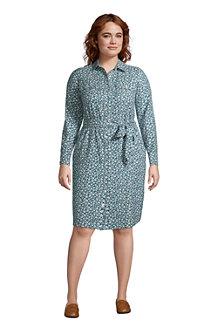 Women's Cotton Flannel Shirt Dress