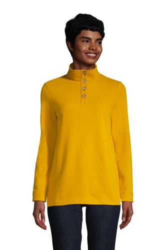 Women's Plus Serious Sweats Button Polo Neck Jumper