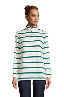 Sweatshirt mit Knopfkragen für Damen