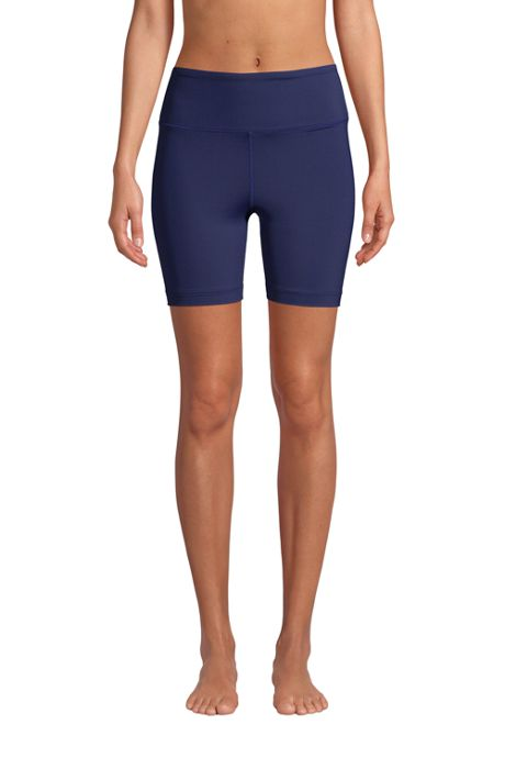 Women's High Waisted 6in Bike Swim Shorts with UPF 50 Sun Protection