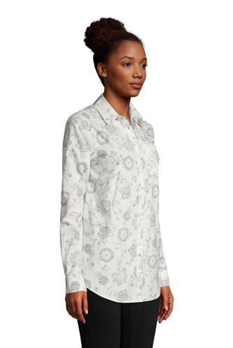 Women's Cotton Boyfriend Fit Roll Sleeve Tunic Top