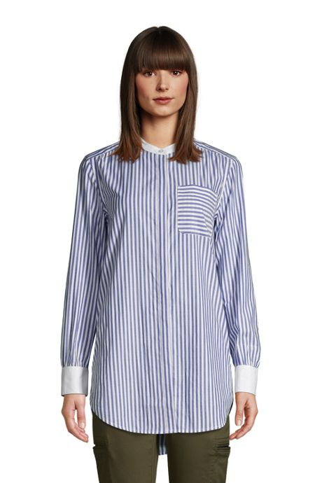 Women's Cotton A-Line Long Sleeve Tunic Top