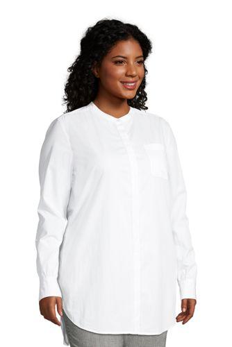 Women's Plus Size Cotton A Line Long Sleeve Tunic Top