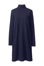 Women's Plus Size Long Sleeve Starfish Mock Neck Dress