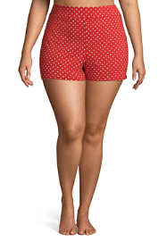 "Women's Plus Size 3"" Tummy Control Modest Swim Shorts Print"