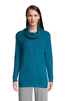 Women's Cowl Neck Tunic Jumper