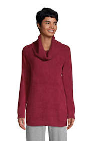 Women's Lounge Cowl Neck Tunic Sweater