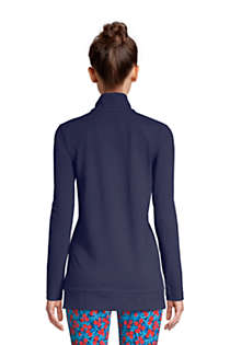 Women's Starfish Long Sleeve Quarter Zip Tunic, Back