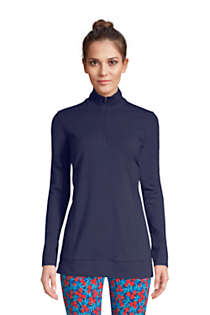 Women's Starfish Long Sleeve Quarter Zip Tunic, Front