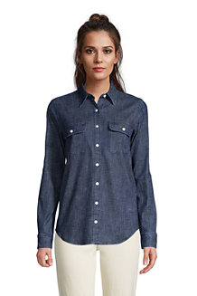 Women's Stretch Denim Long Sleeve Shirt