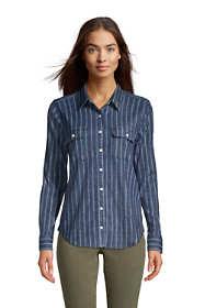 Women's Tall Denim Long Sleeve Shirt