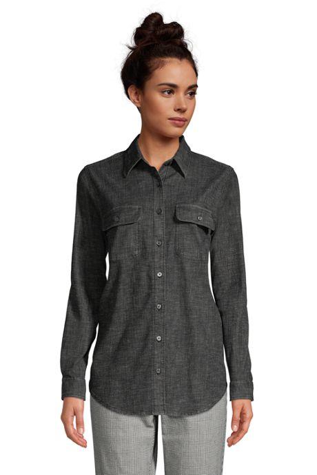 Women's Denim Long Sleeve Shirt