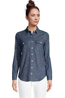 Women's Stretch Denim Long Sleeve Shirt