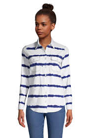 Women's Petite Denim Long Sleeve Shirt