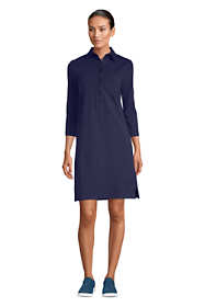 Women's 3/4 Sleeve Starfish Shirt Dress