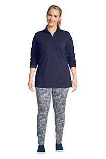 Women's Plus Size Starfish Long Sleeve Quarter Zip Tunic, Unknown