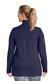 Women's Plus Size Starfish Long Sleeve Quarter Zip Tunic, Back