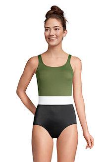 Komfort-Badeanzug CHLORRESISTENT mit Soft Cups Colorblock
