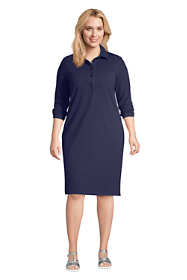 Women's Plus Size 3/4 Sleeve Starfish Shirt Dress