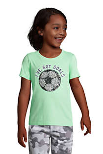 Little Kids Flip Sequin Graphic Tee Shirt, Unknown