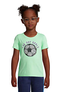 Little Kids Flip Sequin Graphic Tee Shirt, Front