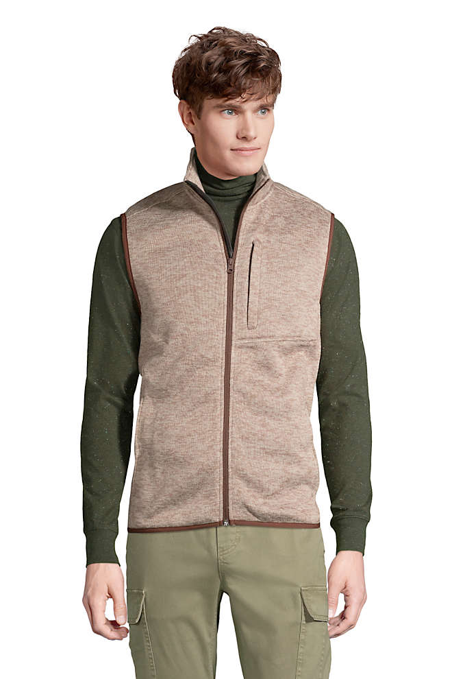 Men's Sweater Fleece Vest, Front