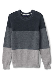 Men's Cotton Drifter Saddle Crew Shaker Stripe Sweater, Front