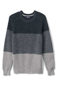 Men's Tall Cotton Drifter Saddle Crew Shaker Stripe Sweater