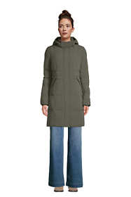 Women's Petite Comfort Stretch Winter Long Down Coat with Hood