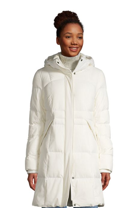 Women's Comfort Stretch Winter Long Down Coat with Hood