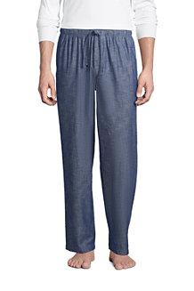 Pantalon de Pyjama en Coton Chambray, Homme