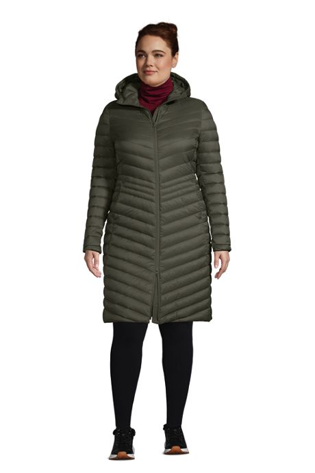Women's Plus Size Ultralight Packable Down Coat With Hood