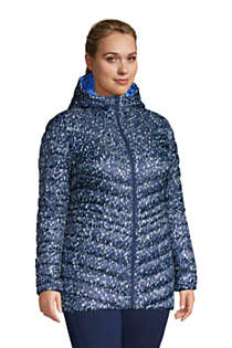Women's Plus Size Ultralight Packable Down Jacket with Hood Print, alternative image