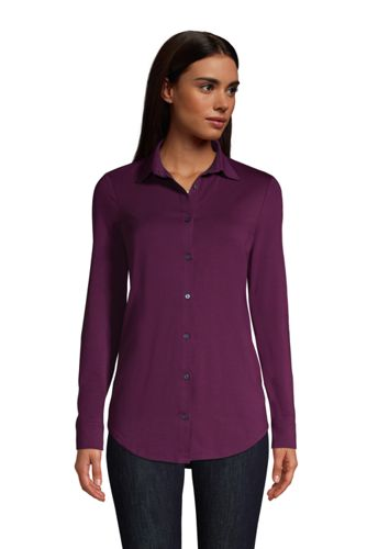 Women's Plus Cotton-Modal Roll Sleeve Tunic