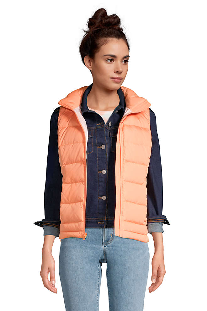 Women's Down Winter Puffer Vest, Front