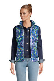 Women's Petite 600 Down Puffer Vest Print