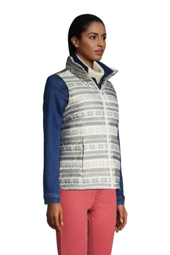 Women's Tall Down Winter Puffer Vest Print